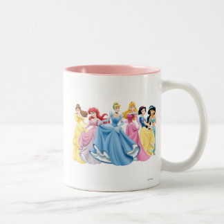 Disney Princess | Holding Dresses Out Two-Tone Coffee Mug