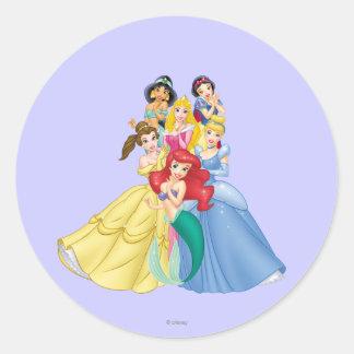 Disney Princess | Holding Hand to Face Classic Round Sticker