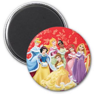Disney Princess   Holiday Dresses 2 Inch Round Magnet