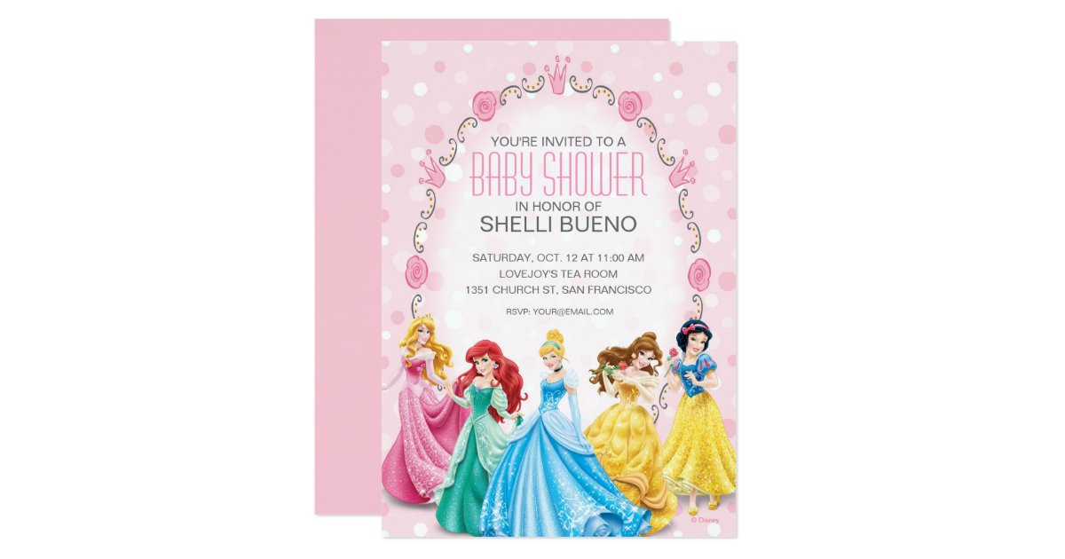 disney princess it 39 s a girl baby shower card zazzle