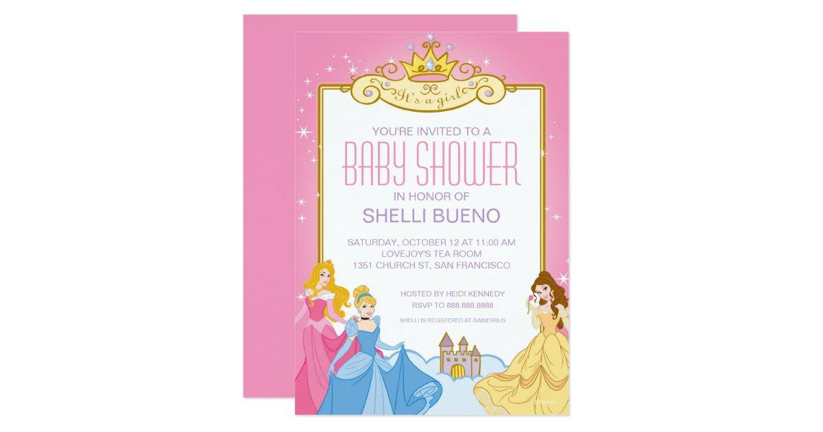 disney princess it 39 s a girl baby shower card zazzle