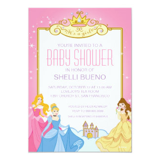 Disney Princess Itu0027s A Girl Baby Shower Card