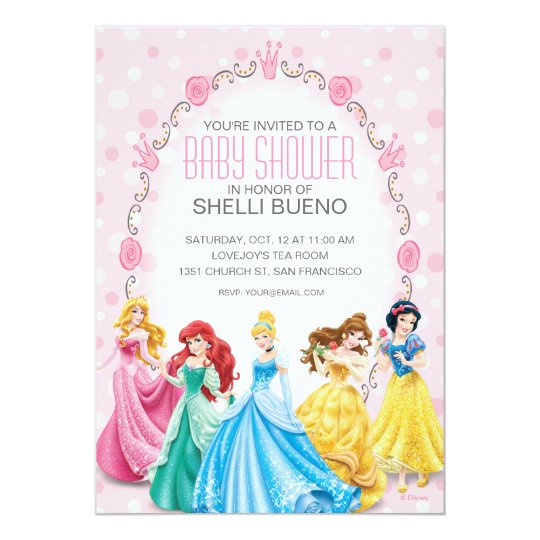Disney Princess Its A Girl Baby Shower Invitation Zazzlecom