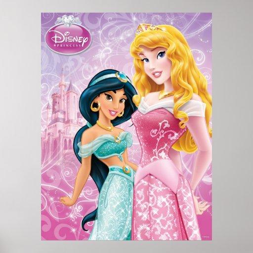 Disney Princess   Jasmine and Aurora Poster