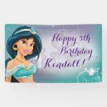 Disney Princess Jasmine Birthday Banner at Zazzle