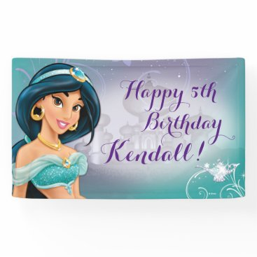 birthday Disney Princess Jasmine Birthday Banner