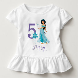 Toddler Ruffle Tee with Birthday Invitations design