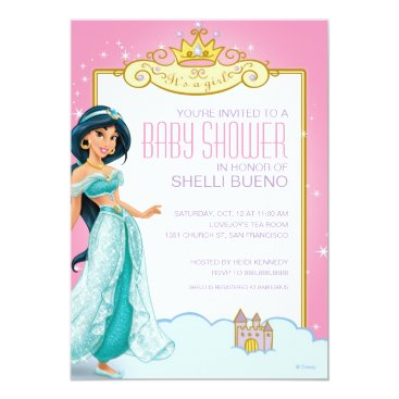 disney Disney Princess Jasmine It's a Girl Baby Shower Card