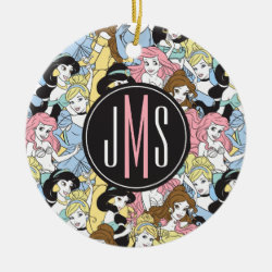 Circle Ornament with Stylized Marshmallow Silhouette design