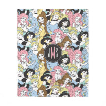 Disney Princess | Monogram Oversized Pattern Fleece Blanket