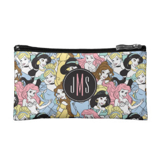 Disney Princess | Monogram Oversized Pattern Makeup Bag at Zazzle