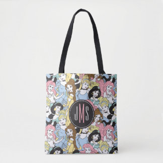 Disney Princess   Monogram Oversized Pattern Tote Bag