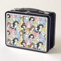 Disney Princess | Oversized Pattern Metal Lunch Box