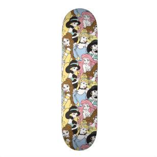Disney Princess   Oversized Pattern Skateboard