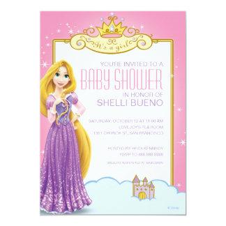 Disney Princess Rapunzel It's a Girl Baby Shower Custom Announcement