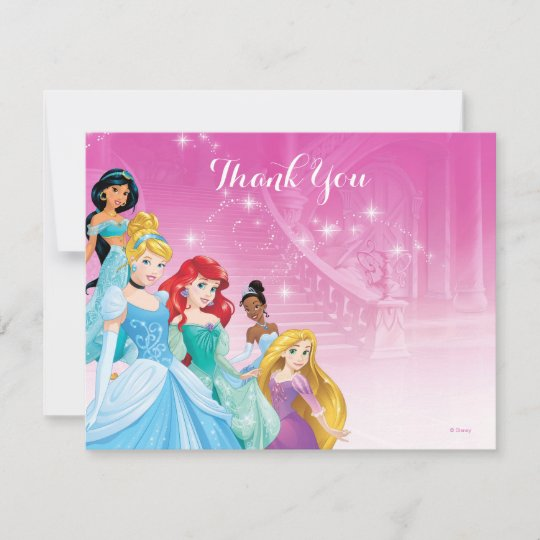 disney princess thank you birthday zazzle com