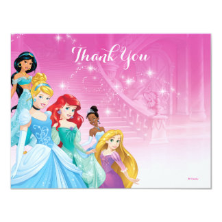 Disney Princess Thank You   Birthday Card