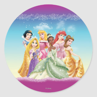 Disney Princess   Tiana Featured Center Classic Round Sticker