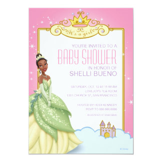 Disney Princess Tiana It's a Girl Baby Shower 5x7 Paper Invitation Card
