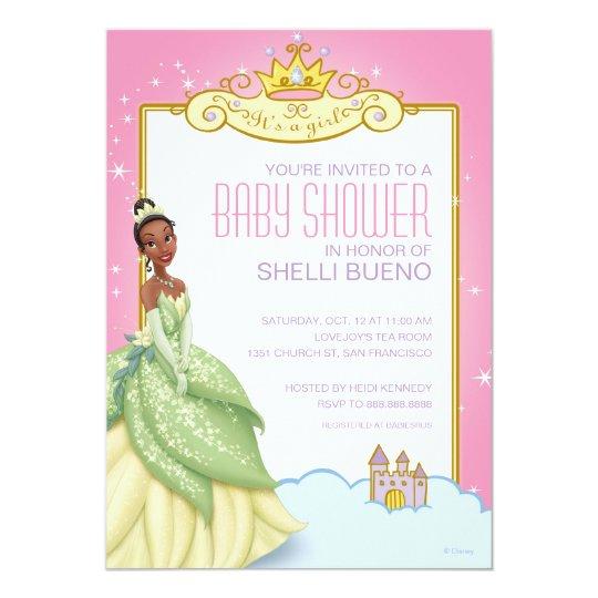 Disney Princess Tiana Its A Girl Baby Shower Invitation Zazzle