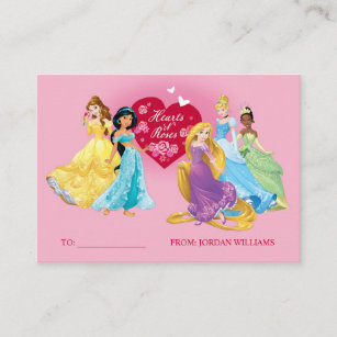 Disney business cards templates zazzle disney princess valentines day 100pk card colourmoves