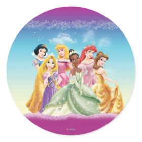 Disney Princesses 10 Classic Round Sticker