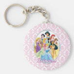 Disney Princesses 11 Basic Round Button Keychain