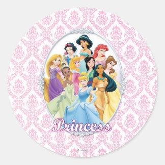 Disney Princesses 11 Round Stickers