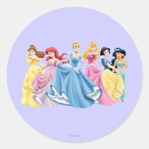 Disney Princesses 13 Round Sticker