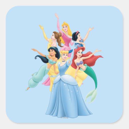 Disney Princesses 2 Square Stickers
