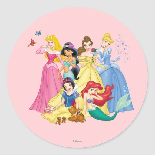 Disney Princesses 3 Round Sticker