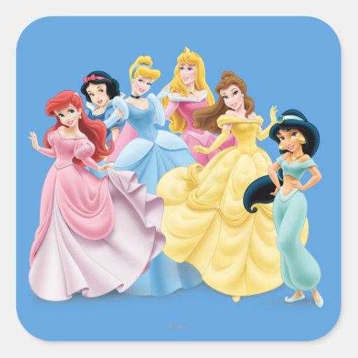 Disney Princesses 7 Square Sticker