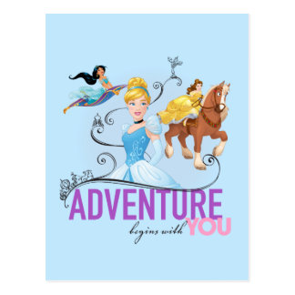 Disney Princesses | Adventure Begins With You Postcard