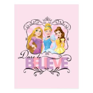 Disney Princesses | Dare To Believe Postcard