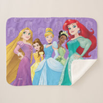 Disney Princesses | Fearless Is Fierce Sherpa Blanket