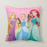 "Disney Princesses | Fearless Is Fierce Throw Pillow<br><div class=""desc"">Disney Princesses are empowered heroines who dream,  create and celebrate magical adventures! They help inspire young girls to see how brave,  strong and fearless they are. These princesses focus on their friendships and embracing adventure.</div>"