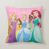 Disney Princesses | Fearless Is Fierce Throw Pillow