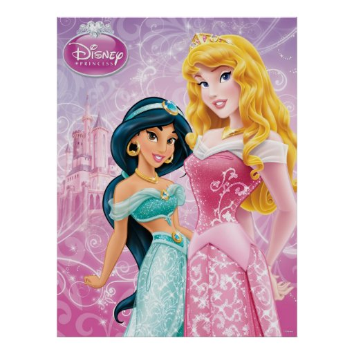 Disney Princesses: Jasmine and Aurora Posters