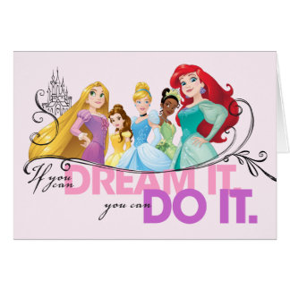 Disney Princesses | Never Give Up Card