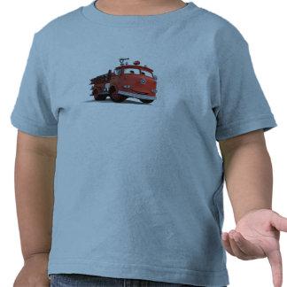 Disney rojo de los coches camisetas