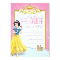 Disney Snow White It's a Girl Baby Shower Card