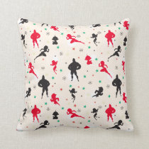 Disney | The Incredibles | Christmas Pattern Throw Pillow