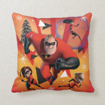 Disney | The Incredibles | Holiday Heroes Throw Pillow