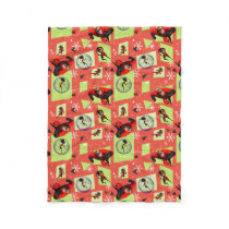 Disney | The Incredibles | Retro Holiday Pattern Fleece Blanket