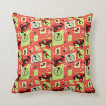 Disney | The Incredibles | Retro Holiday Pattern Throw Pillow