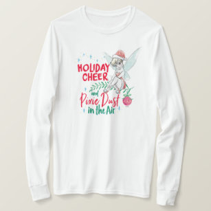 Christmas In Dixie Shirt.Disney Tinker Bell Holiday Cheer Quote T Shirt