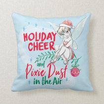 Disney | Tinker Bell | Holiday Cheer Quote Throw Pillow