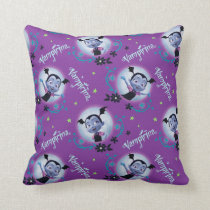 Disney | Vampirina - Vee - Gothic Pattern Throw Pillow