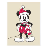 Disney | Vintage Mickey - Festive Fun Postcard