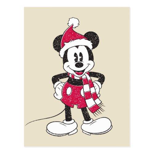Disney  Vintage Mickey _ Festive Fun Postcard